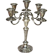 Sterling Gorham Strasbourg pattern 5 light candelabra