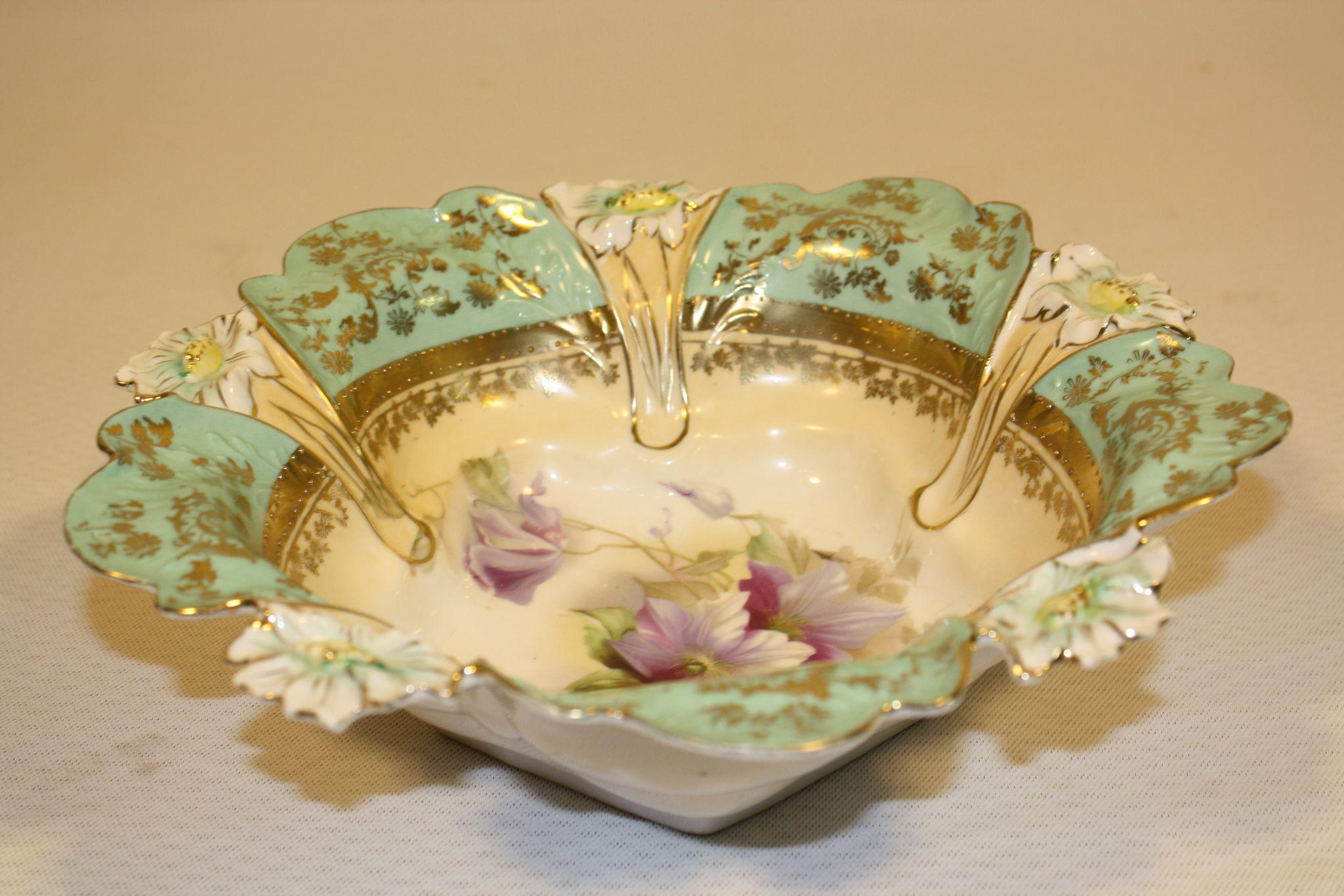 Old Ornate Bowl In Style Of Rs Prussia Sold On Ruby Lane