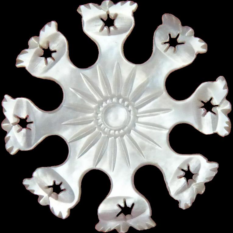 Rare Design Mother of Pearl Shell Thread Winder Palais Royal c1810