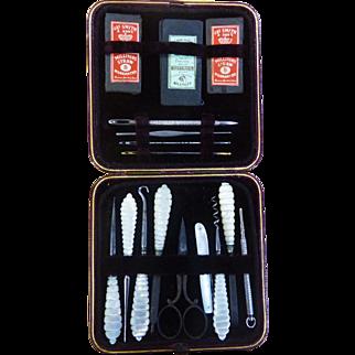 English boxed Sewing Set or Needle Work Tool Set c 1880