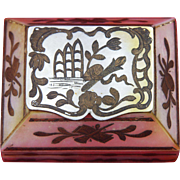 French c1780 Mother Of Pearl Shell Box - Vanity, Powder, Tobacco, Snuff, Treasure