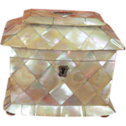 Regency Mother Of Pearl Shell Tea Caddy c1820 PRICE REDUCTION