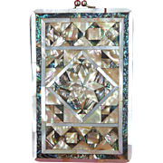 Mother of Pearl and Abalone Shell Cigarette or Cheroot Case c1900 PRICE REDUCTION