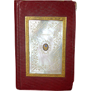 Palais Royal Mother of Pearl Shell and Red Morocco Note Book or Aide Memoir France c1810 Offer
