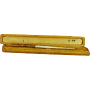 Fancy Carved Mother of Pearl Dip Pen in Box (number 1) PRICE REDUCTION
