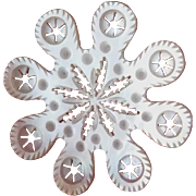 Huge Mother Of Pearl Shell Palais Royal Sewing Snowflake Thread Winder, France c1810-20 PRICE REDUCTION