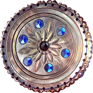 Exceptional Mother Of Pearl Shell Whimsy Pin Cushion England c1840