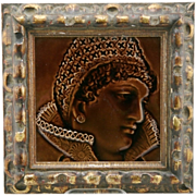 """Trent Tile Co. Framed 8.25"""" (6"""") Tile 'Portrait Of A Woman' By Isaac Broome Mint"""