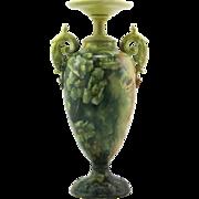 "Lenox Belleek Ceramic Art Company 12"" Vase With Wild Rose Blossoms Motif c1889-1906"