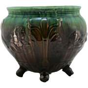 """Weller 'Sirens Of The Sea' 6.75"""" x 8"""" Footed Jardiniere In Blended Glazes Mint"""