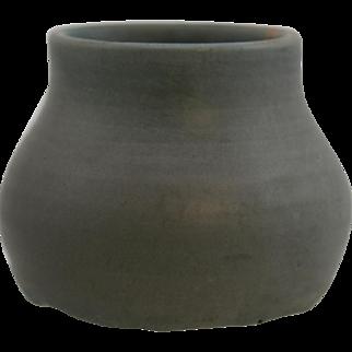 "Hampshire 3"" x 4"" Cabinet Vase Dated July 26, 1906 Gray Glaze/Lavender Hue Mint"