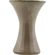 "Fulper 7.5"" Trumpet 'Fool's Cap' Vase C1909-1916 Cafe Au Lait Flambe Glaze Mint"