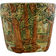 """Weller Forest 8.5"""" x 10"""" Jardiniere With Tabbed Feet Great Mold And Color Mint!"""
