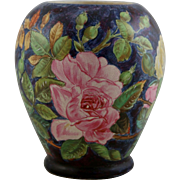 "William Lycett Rare 8.5"" x 7"" China-Painted Vase In John Bennett Style Dated 1880 (Edward Lycett's son)"