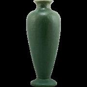 "Fulper 12"" Arts & Crafts Vase 1916-1922 In Organic Matte Green Glazes Mint F117"