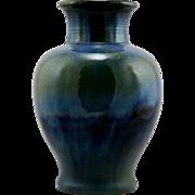 "Fulper 9.5"" Arts & Crafts Vase 1922-1928 In Blue/Green  Flambe Glazes Factory Mint F32"