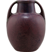 "Fulper 7.5"" Vase In Plum Laced With Purple Matte Glazes Mint F31"