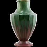"""Fulper 11.5"""" Arts & Crafts Original Lamp Base/Vase c1920 In Rose Over Green Glazes Mint F365"""