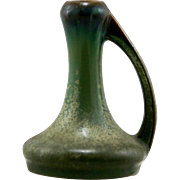 "Fulper 4.5"" Arts & Crafts Dipstick Vase 1922-1928 In Green Matte Crystalline Frosted Glazes Mint F124"