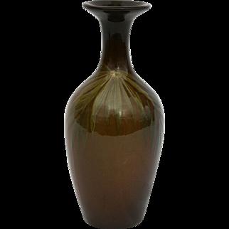 """Roseville Rozane Royal 7"""" Standard Glaze Vase With Beautiful Palm Fronds"""