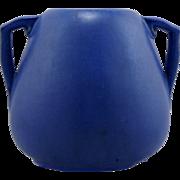Fulper Arts and Crafts Urn Shape 4085 In Rich Matte Blue Glaze c1928 Mint F521