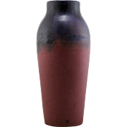 "Fulper 17.5"" Floor Vase in Purple Over Rose Glazes d1910-1914 Mint F39"