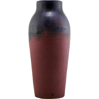 "Fulper 17.5"" Floor Vase in Purple Over Rose Glazes d1910-1914 Mint F39"
