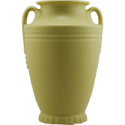 "Abingdon Pottery Delta Vase 10"" c1938-39 in Lemon Chiffon Glaze Mint A694"