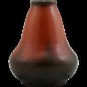 """Roseville Pauleo 6.5"""" Vase in Orange Rust/Brown c1910 Mint"""