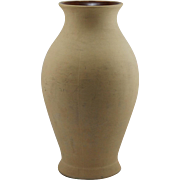 "Fulper 16.5"" Arts & Crafts Floor Vase In Matte Bisque Glaze Factory Mint"