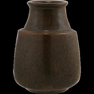 "L. Hjorth Scandinavian 5"" x 3.5"" Vase Mid-Century Modern Pentagonal Form Mint"