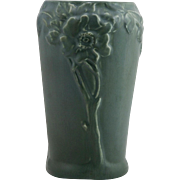 "Rookwood Production 8"" Vase with Floral Motif in Blue/Gray Glaze d1922"