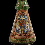 "Royal Bonn Germany Tapestry Pattern Brocade Design Art Nouveau 9"" Vase c1890-1920 Mint"