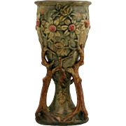 "Weller Woodcraft/Flemish 9.25"" Apple Tree Chalice Vase Gorgeous"