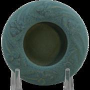 "Van Briggle 5.75"" Bowl #499 W/Trefoil Leaves D1906 Aqua Blue/Blue Glaze Mint"