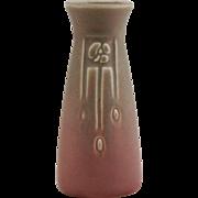 "Rookwood Production 5.75"" Vase 1922 Nice A&C Motif Green Over Rose Glazes Mint"