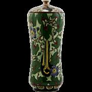"Royal Bonn Germany Old Dutch Brocade Design Art Nouveau 8"" Vase c1890-1920 Mint"