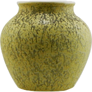 "Weller Neiska 6.25"" Vase Designed by Rudolph Lorber in Yellow Drizzled Glaze c1933 W461"