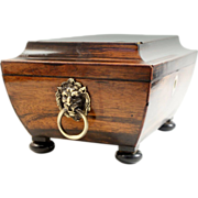Antique Georgian Coromandel Sewing box