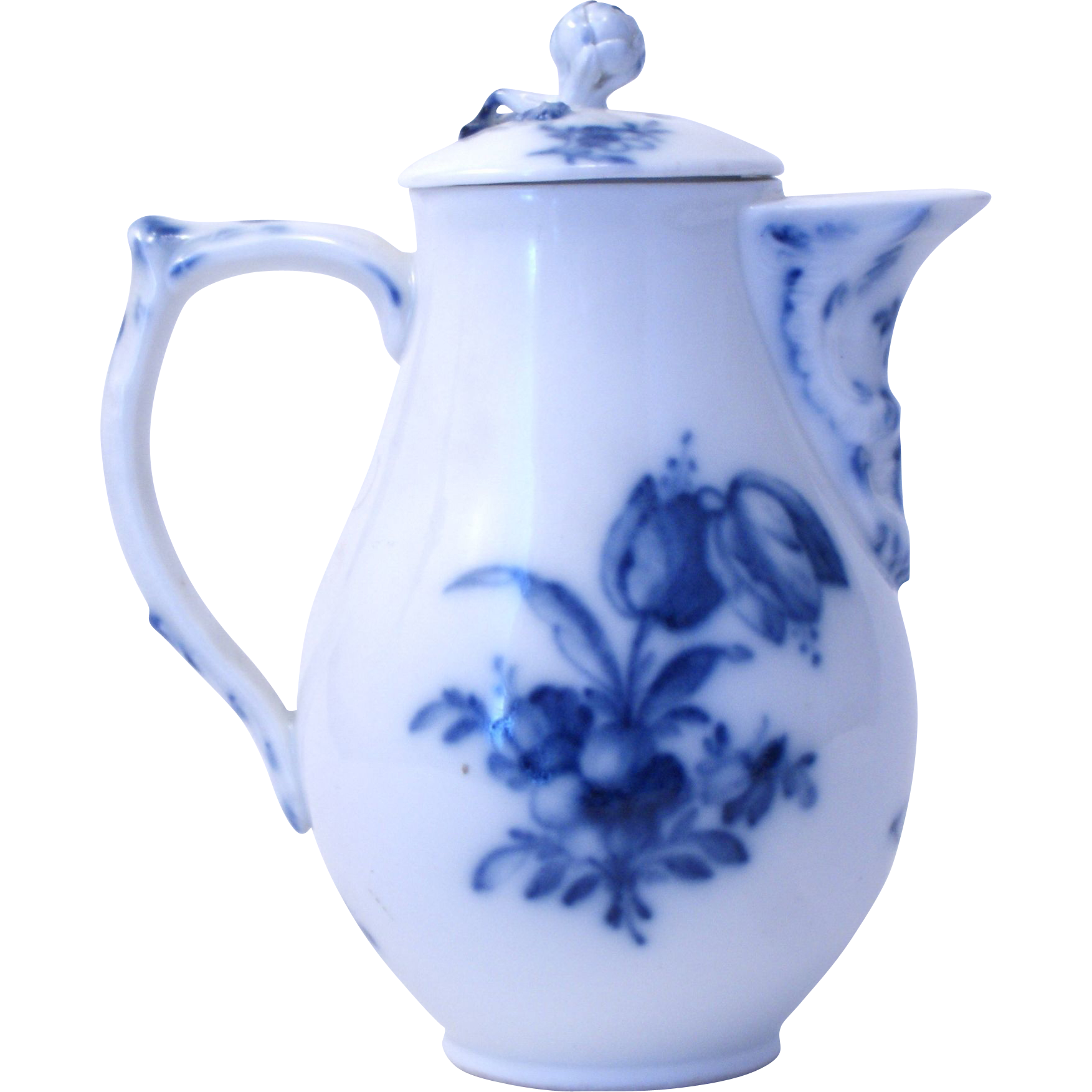 antique georgian kpm berlin porcelain blue white jug. Black Bedroom Furniture Sets. Home Design Ideas