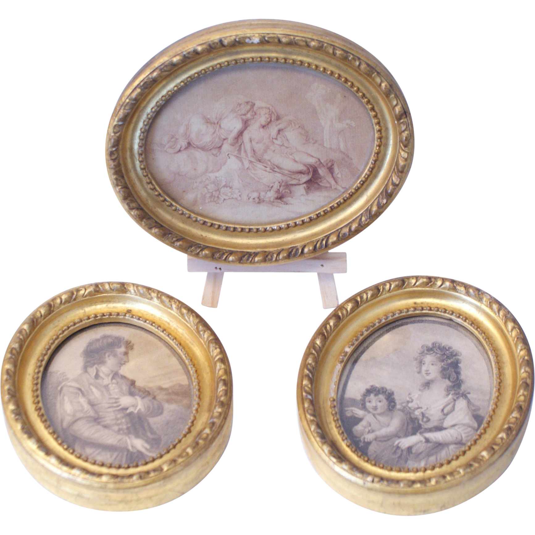 Three victorian gilt framed miniature prints from rubylane for Miroir des modes prints