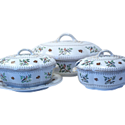 Three antique Copeland Spode tureens in 'Randalls Birds' pattern