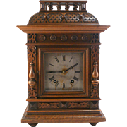 c1890 antique Carved Bracket Mantle clock by W&H (WINTERHALDER & HOFMMEIER)