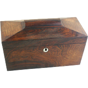 Antique English Regency period Mahogany Tea caddy with Fitted interior