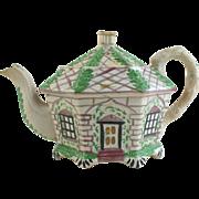 Antique English Georgian Lustre ware cottage teapot
