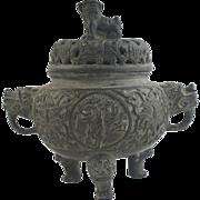 Antique 19th Century Chinese Bronze Censer
