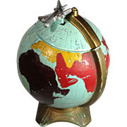 Rare McCoy Globe With Plane Cookie Jar 1961-63