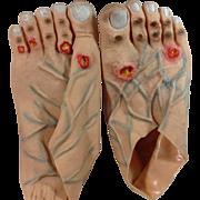 Vintage Oversized Gruesome Rubber Feet