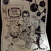 1977 RyFF Elvis / Ed Sullivan Caricature Poster
