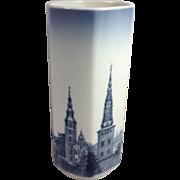 Signed Royal Copenhagen Scenic Porcelain Vase